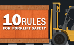 10 Rules for Forklift Safety Infographic