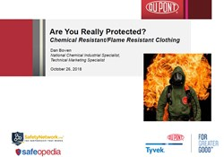 Webinar:  CR/FR Clothing - Are you Really Protected? You'd be Surprised