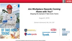 Webinar: Are Workplace Hazards Coming Home with You?