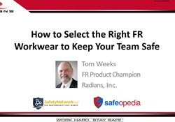 Webinar: What to know about FR to keep your employees safe