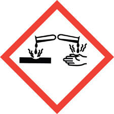 Corrosive safety symbol
