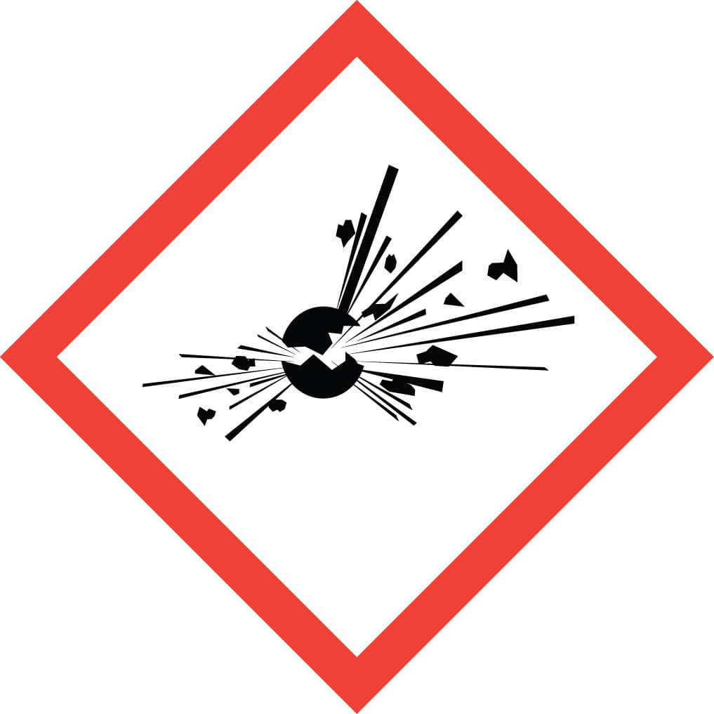 GHS01 – Explosives unstable explosives organic peroxides and self-reacting substances and mixtures