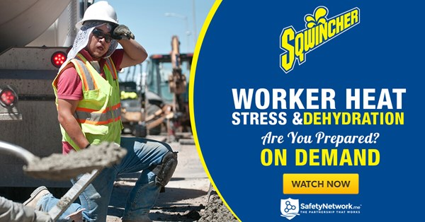 Image for Webinar: Worker Heat Stress & Dehydration - Are You Prepared?