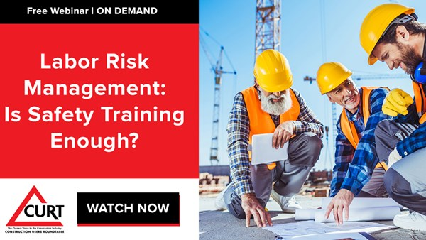 Image for Labor Risk Management: Is Safety Training Enough?