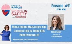 Women in Safety #11 - What Hiring Managers are Looking for in Their EHS Professionals