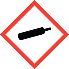Gas cylinder gas under pressure safety symbol