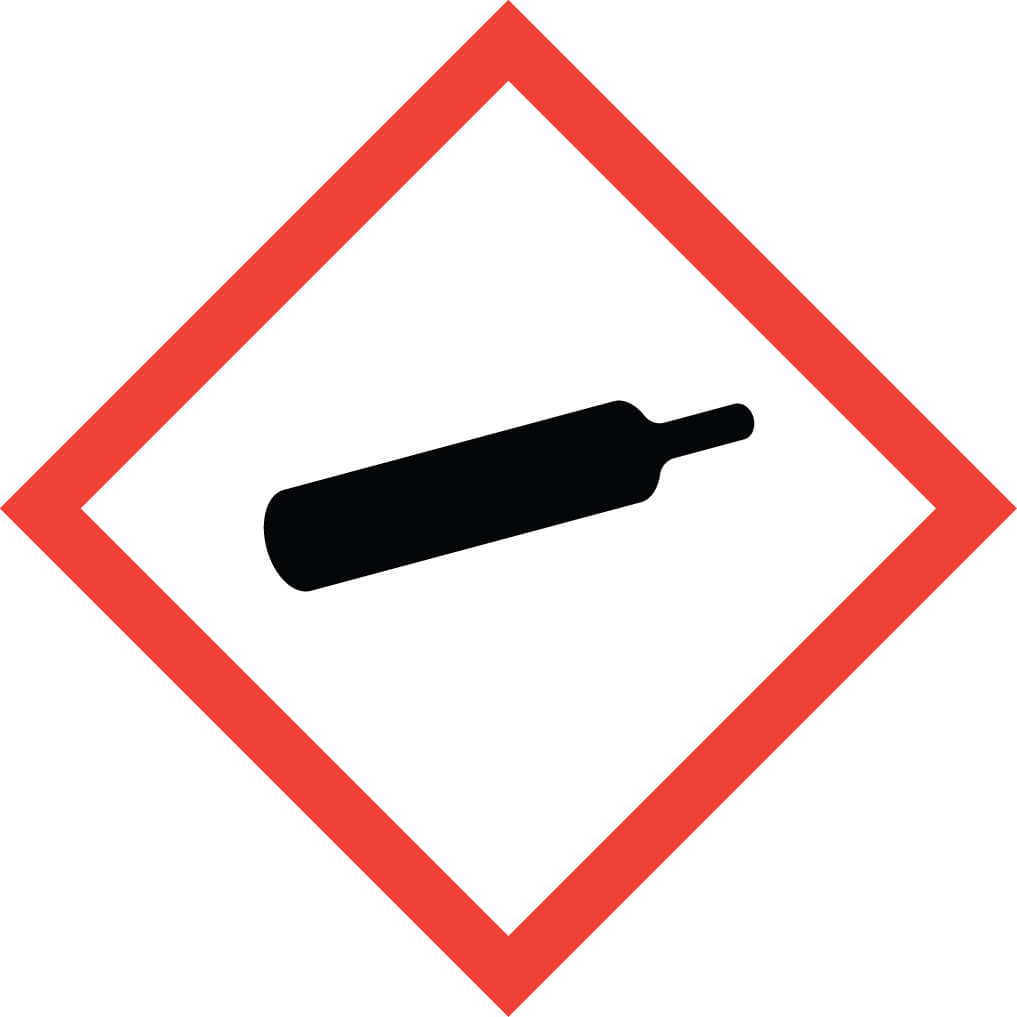 GHS04 – Compressed - Gas pictogram for liquefied refrigerated dissolved and compressed gasses