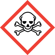 Skull and crossbones acute toxicity safety symbol