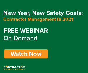 New Year, New Safety Goals - Contractor Management in 2021