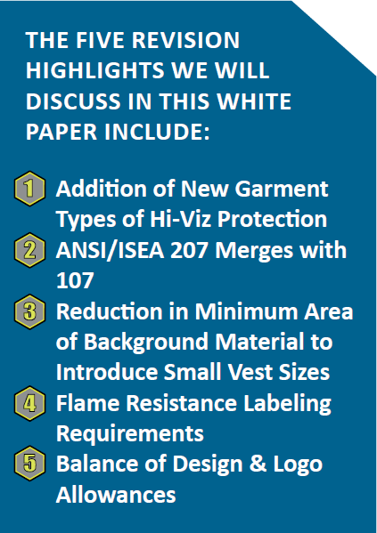 ANSI-ISEA 107-2015 Standard for Hi-Vis Apparel 5 points