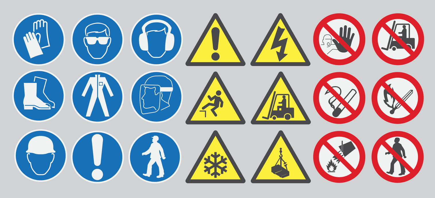 Workplace safety symbol categories