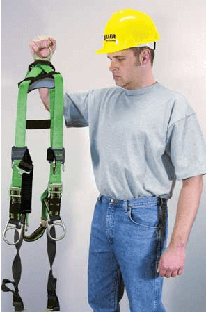 Fitting a full body safety harness
