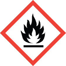 Flame hazard safety symbol