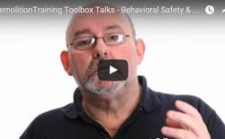 Demolition Training Toolbox Talks - Behavioral Safety & Teamwork
