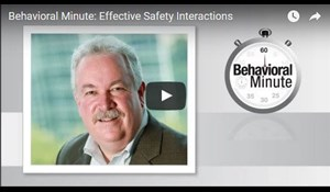 Image for Behavioral Minute: Effective Safety Interactions