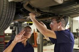 Automotive service pit safety