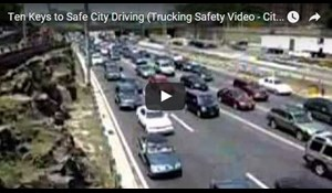 Image for Ten Keys to Safe City Driving - Trucking Safety Video