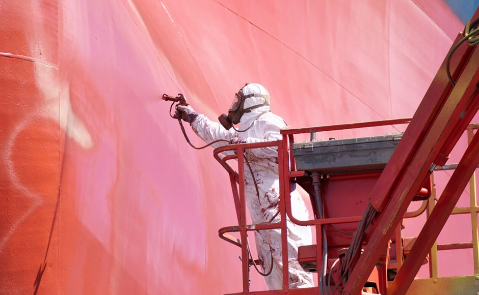 Industrial spray painting must be done safely