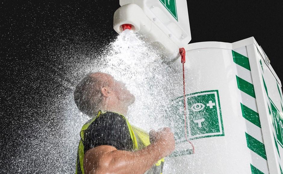 Choosing a safety shower