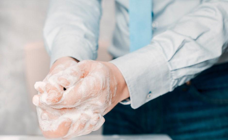 Washing hands at work