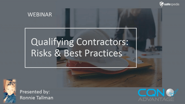 Webinar: Qualifying Contractors: Risks & Best Practices