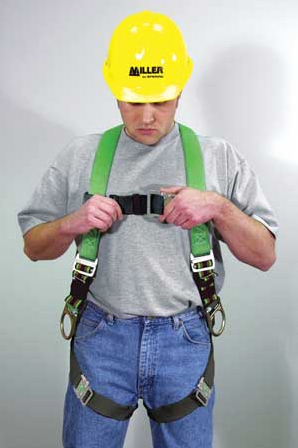 Full body safety harness chest straps