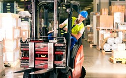 Making loading docks and warehouses forklift safe