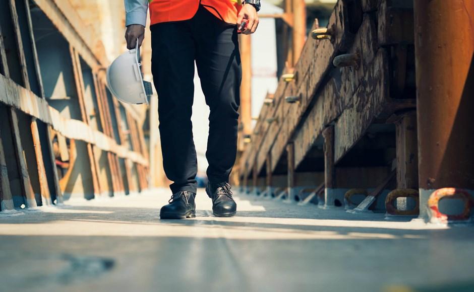 Walking on the jobsite