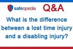 What is the difference between a lost time injury and a disabling injury?