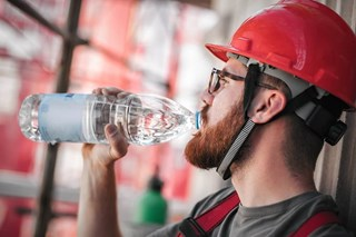 Why are sodium and other electrolytes important for worker health and hydration?