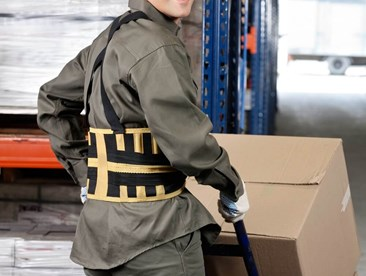 What are some of the guidelines around using back support belts in the workplace?