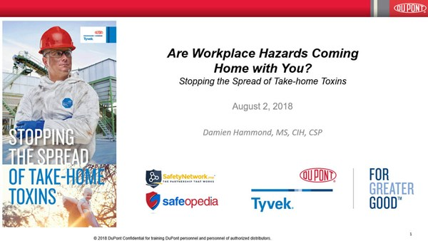 Image for Webinar: Are Workplace Hazards Coming Home with You?