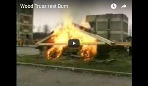 Image for Wood Truss Test Burn