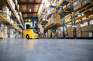 Are there ways to reduce the carbon monoxide output of our warehouse forklifts?