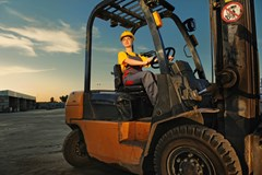 Regular forklift inspections