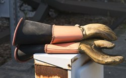 What is the best way to store rubber safety gloves?