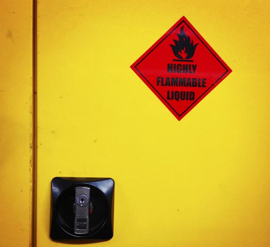 Storing hazardous materials