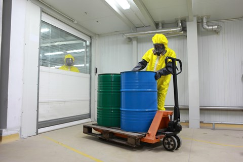 Large quantities of hazardous materials can pose so great a risk they require designated storage buildings. Find out which regulations you...