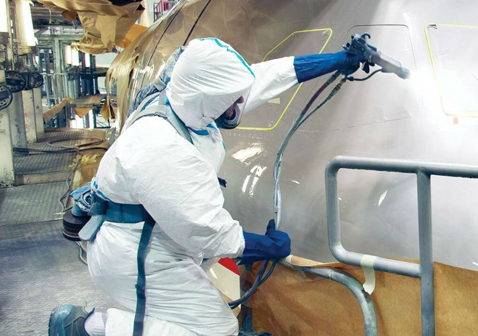 Spray painting requires PPE