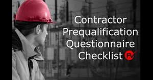 Image for Contractor Prequalification Questionnaire Checklist