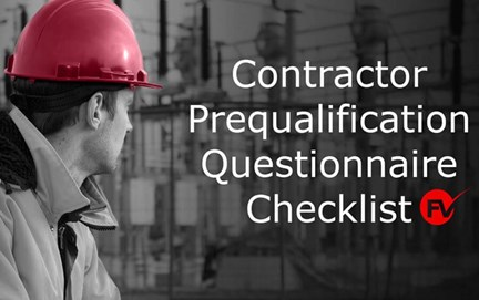 Contractor Prequalification Questionnaire Checklist