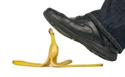 slip on banana peel