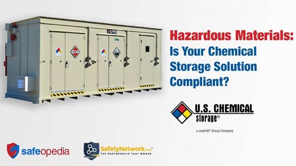 Webinar:  Hazardous Materials: Is Your Chemical Storage Solution Compliant?