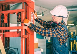 Lockout tagout for forklift maintenance