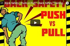 Back Safety - Push or Pull?