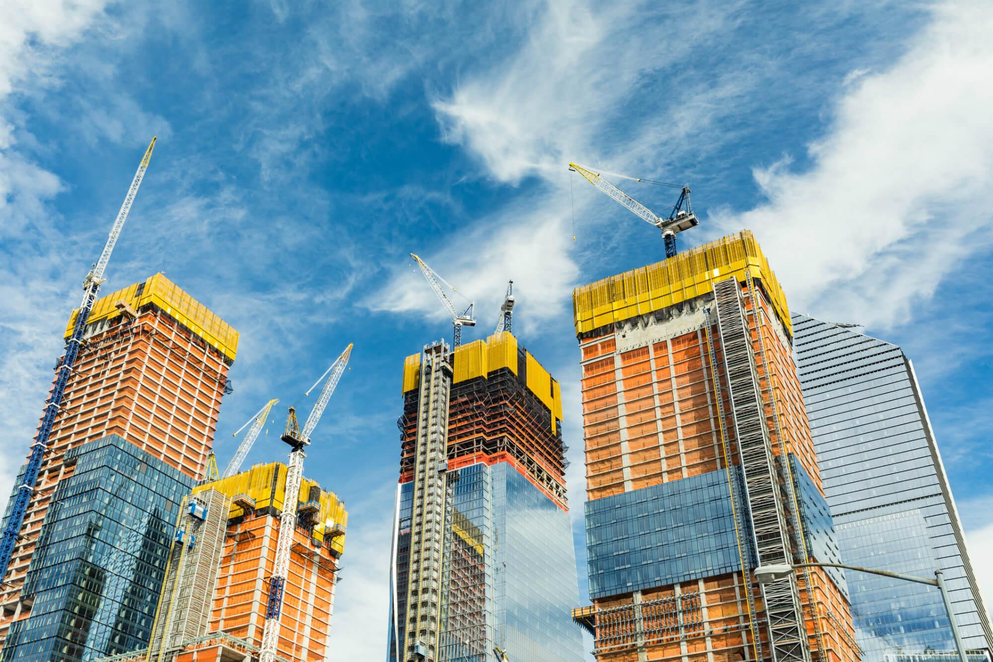 фото стройка небоскребов нашем зале