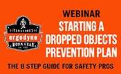 Starting a dropped objects prevention plan: The 8 Step Guide for Safety Pros