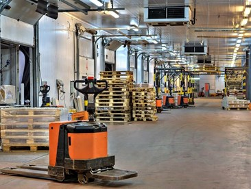 How close to loading docks should forklifts be allowed to operate?