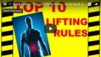Back Safety - Top 10 Lifting Rules