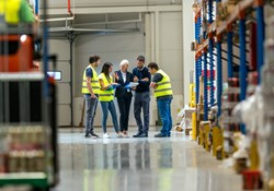 Safety talk in warehouse